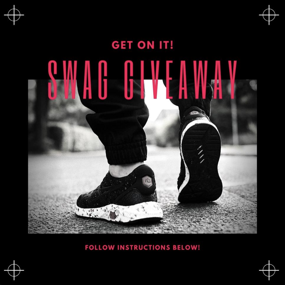Black and Red Footwear Giveaway Instagram Post