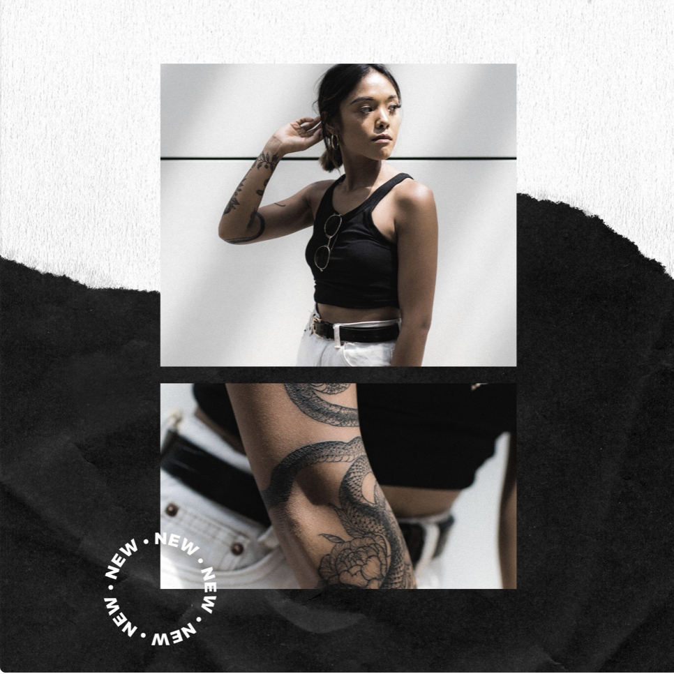 Black and White Modern Advertisement Instagram Post