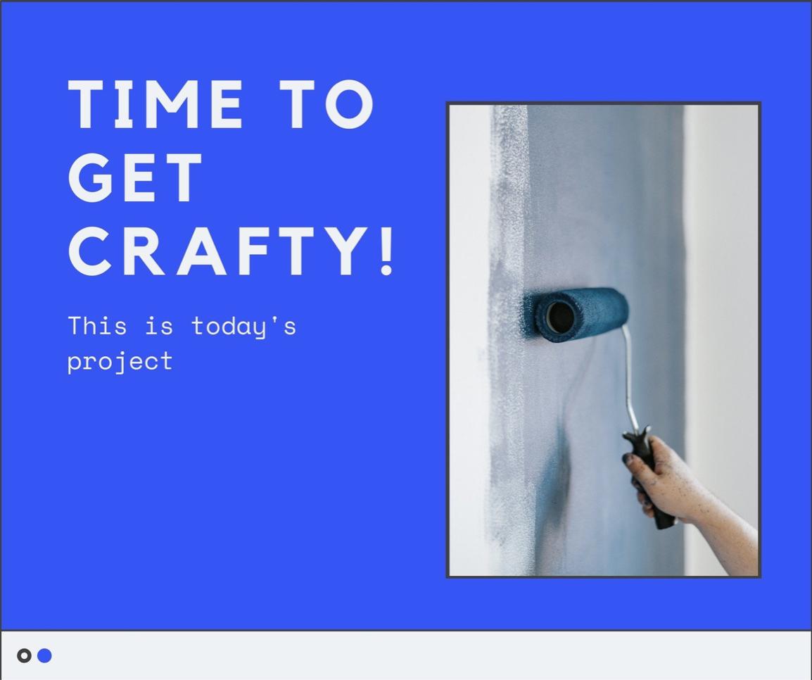 Blue Photo Digital Brutalism DIY Influencer Facebook Post Set