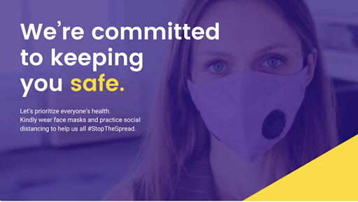 Purple and Yellow Woman Photography Safety Culture Twitter Post