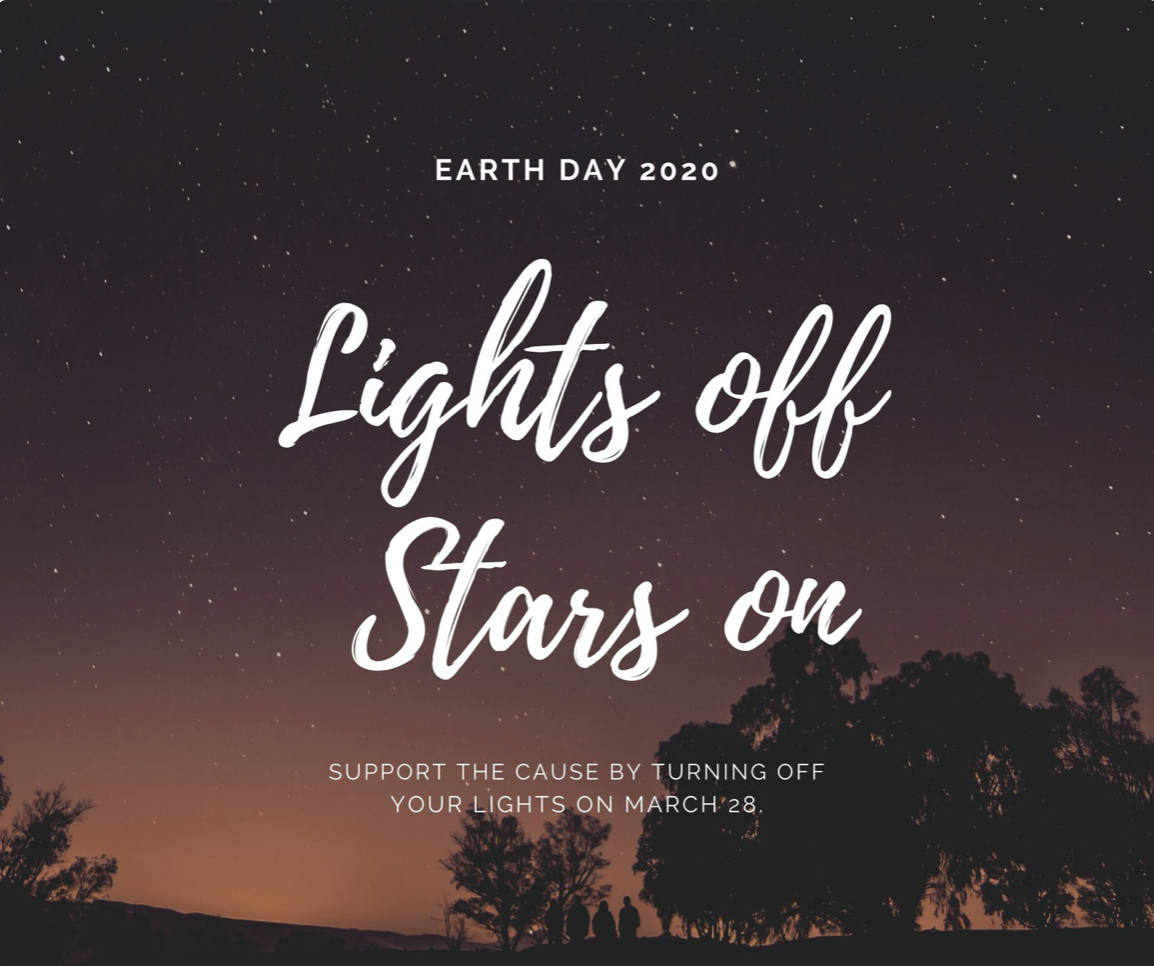 Simple Galaxy Stars Earth Hour Awareness Facebook Post